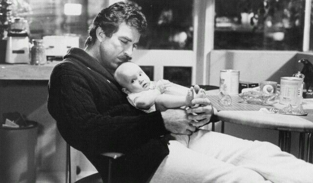 Lovely Tom Selleck, the original Hipster Dad... [Three Men and a Baby, Walt Disney Studios]